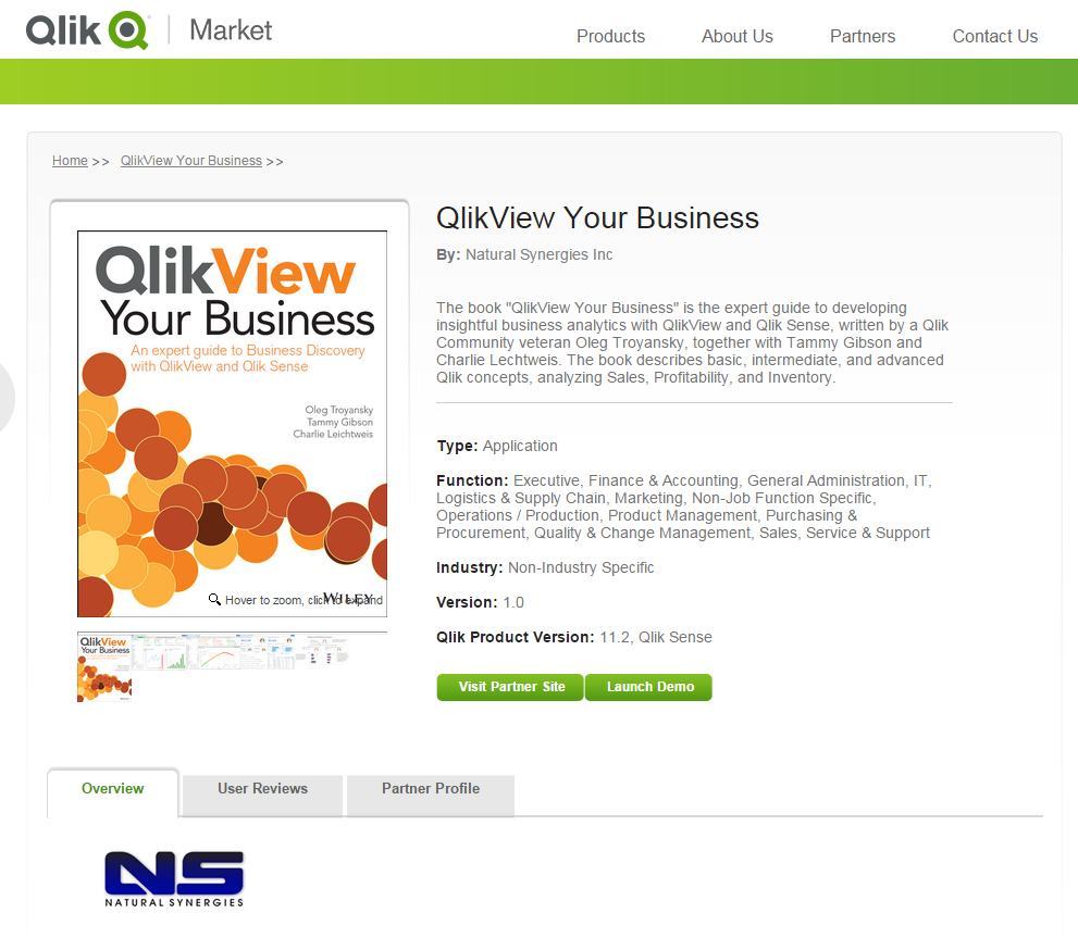 News: Detailed Description of our new book, QlikView Your Business
